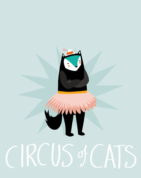 Circus of Cats (faux poster number 2) by blackoutwell on Etsy