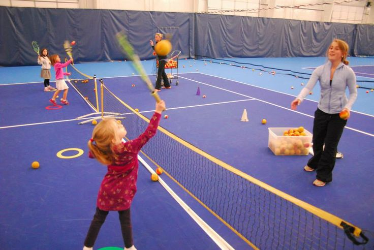 The Center for Excellence Quick Start Tennis teaches skills, teamwork, and fun. First graders and senior and junior kindergartners had a blast with Coach Kristin and Coach Caroline.