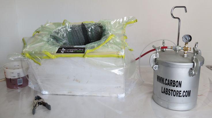 Elementos básicos que conforman el proceso de infusión de resina. Para mayor información, visita: www.carbonlabstore.com