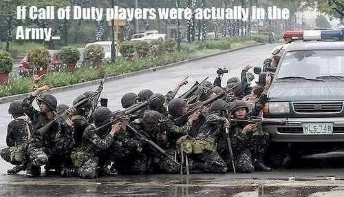 If Call of Duty players were in the army - Military humor