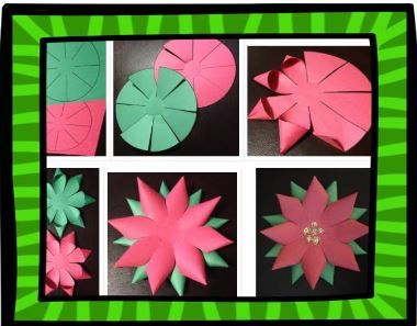 Step by step directions and free template to make a poinsettia. Perfect for a Christmas in Mexico unit. Navidad.