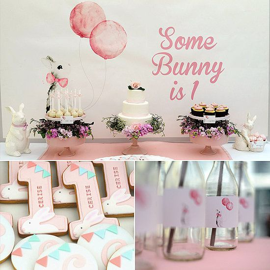 """The inspiration for Cerise's first birthday party theme, 'Some Bunny Is One,' came from her nickname, Bun,"" says her mom, party planner Jade McKenzie of Australia's Event Head. ""Ever since she was born, she has been like a cute little"