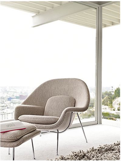 Saarinen Womb Chair, on location in Case Study House No. 22 - Gorgeous image. One day, one day I will own one of these chairs.