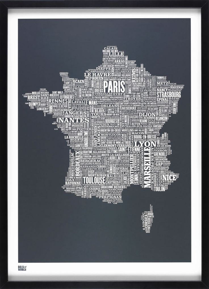 typography, geography, contrast
