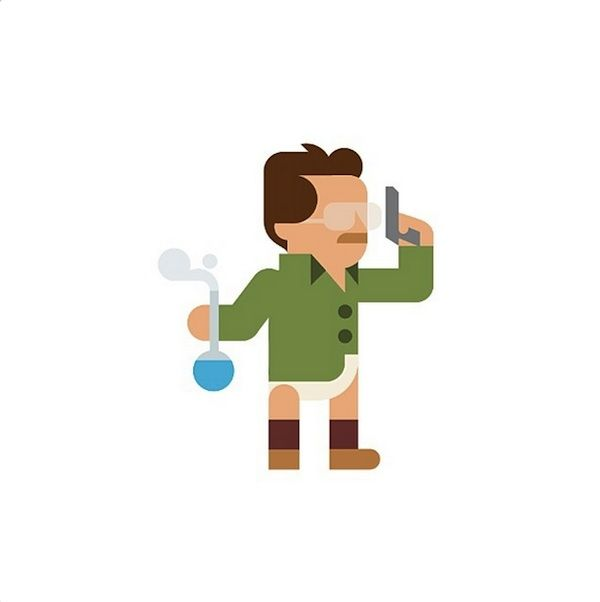 Snow White To Walter White: Fun Minimalist Drawings Of Pop Culture Characters - DesignTAXI.com