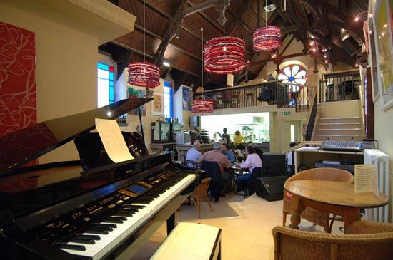 My favorite quirky Aberdeen restaurant located in a former church - Cafe Musa