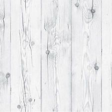 White Wash Wood Effect Wallpaper Self Adhesive Plank Boards Contact Paper Roll