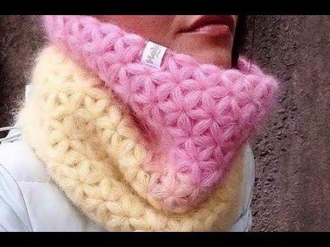 Hermosa Bufanda Tejida a Crochet Paso a Paso