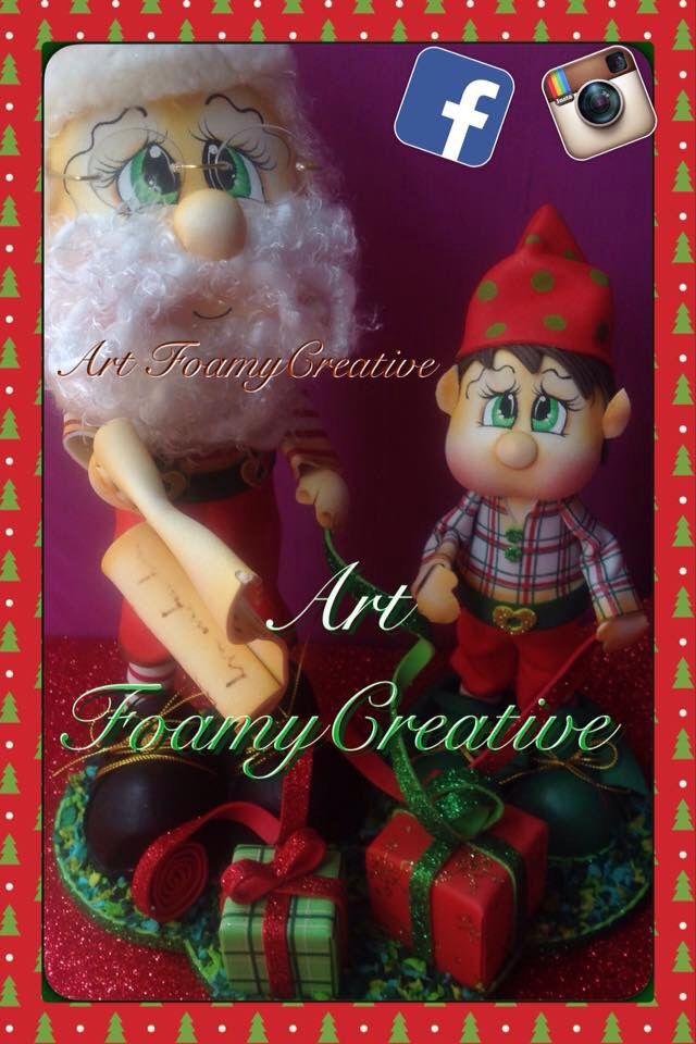 Diseño Santa Claus, art FoamyCreative