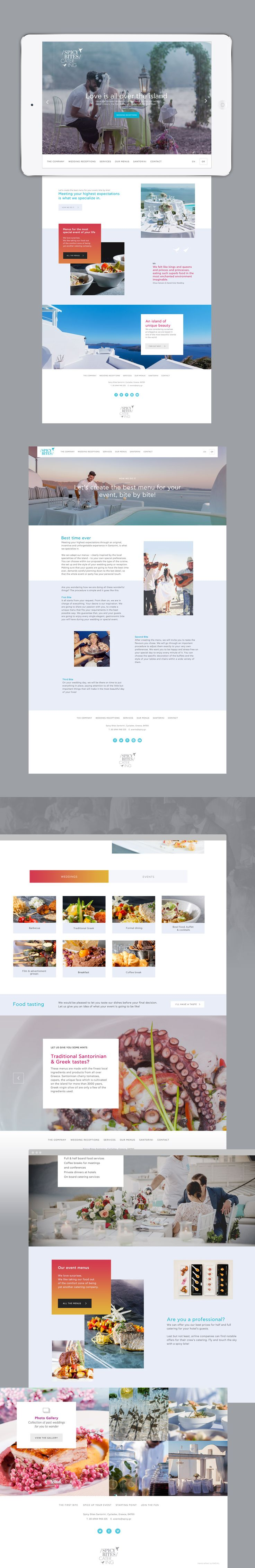 In the breathtaking surroundings of Santorini, Spicy Bites Catering adds the touch of taste and style that all special moments deserve. Inspired by the sophistication characterizing every single work of the Spicy Bites Catering, we designed and developed a website that is a journey by itself.