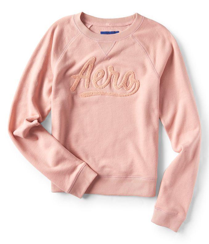 Aero Script Logo Crew Sweatshirt