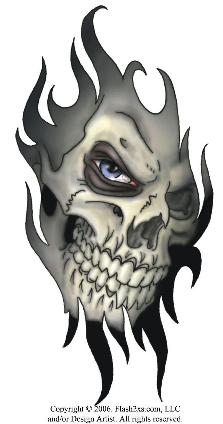 free skull designs announces tribal