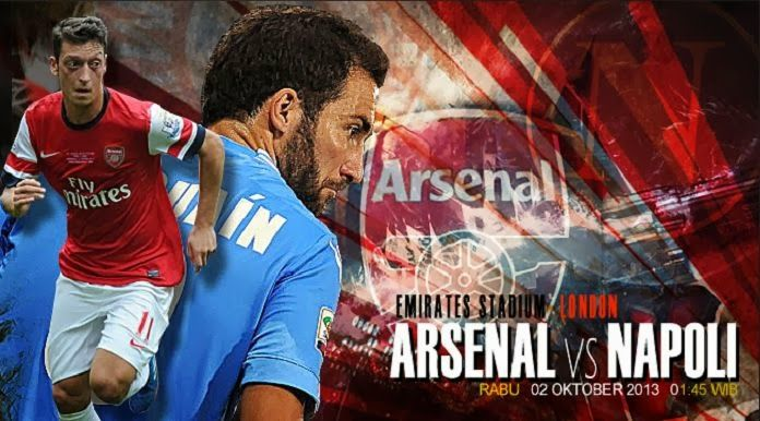 Mesut Ozil vs Gonzalo Higuain Champions League. Arsenal vs Napoli Champions League October 1 2013