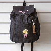 Personalized Denim Back Pack