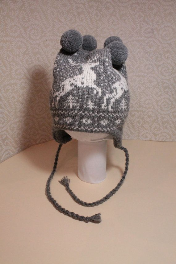 SALE  Wonderful hand-made winter hats with deer by LanaNere