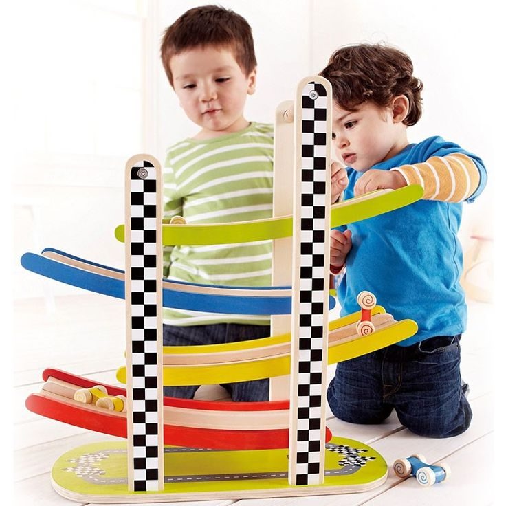 Racetrack Wooden Ramp Racer for Toddlers - Educational Toys Planet