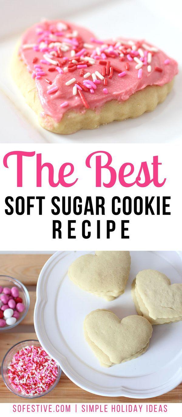 the best soft sugar cookie recipe- easy sugar cookie recipe
