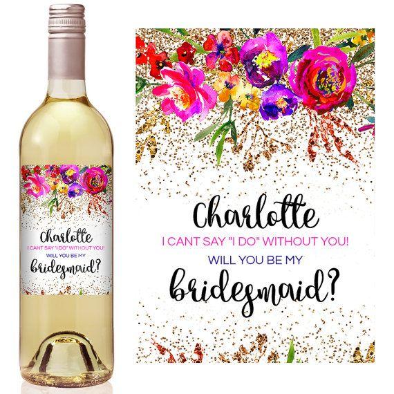 Custom Bridesmaid Proposal Gift Bridesmaid Wine by iCustomWine