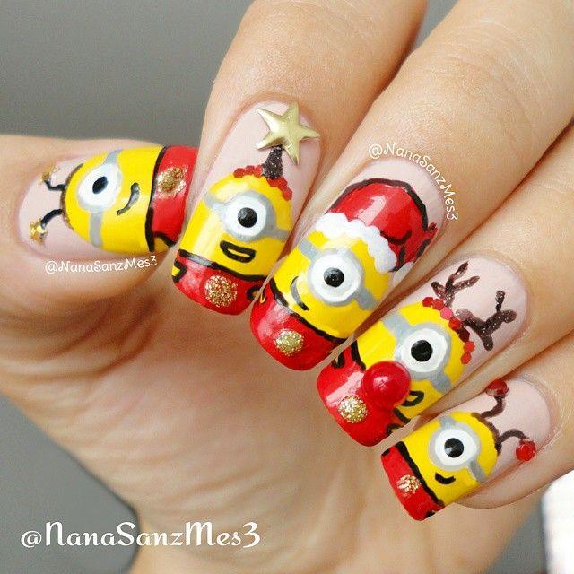 Nanasanzmes3 S Photo On Instagram Christmas A Minions Winter Nail Art Nails Minion