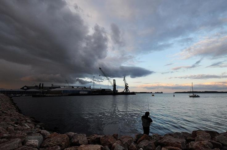 Godaften fra Lystbådehavnen i Fredericia - maj 2013