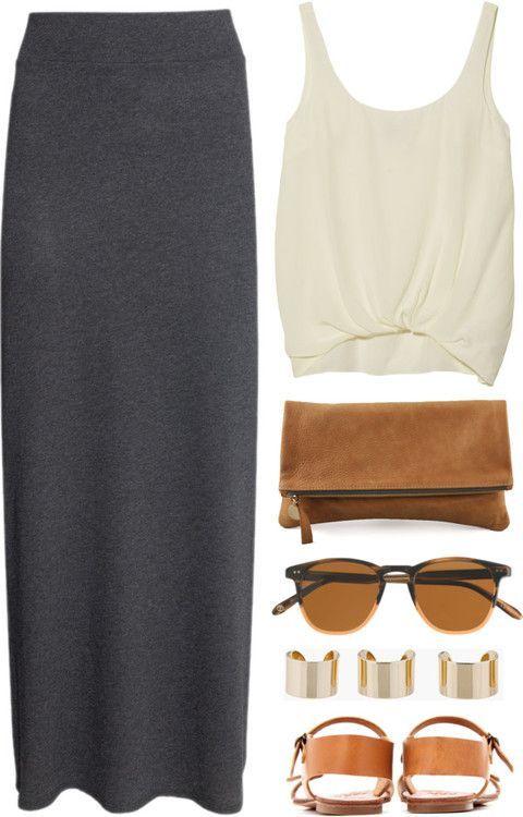25 lange Rock Outfits, die Sie lieben werden – für Sommer / Frühling / Herbst