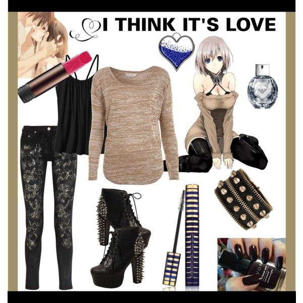 """""""INSPIRED BY anime"""" by mellors on Polyvore Never seen but i like the outfit"""
