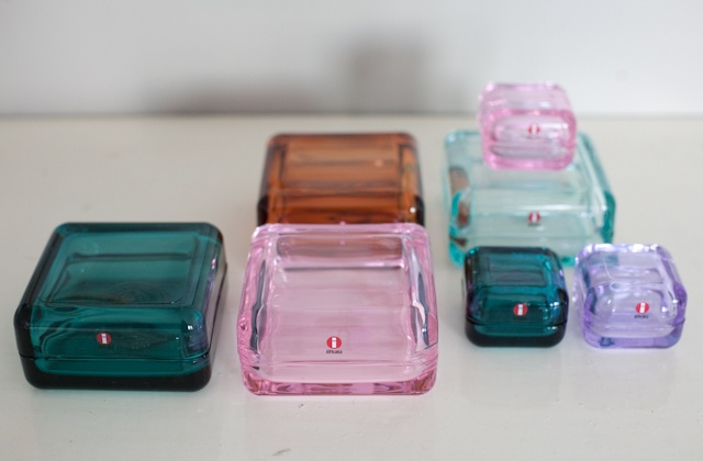 Vitriini glass cases by Anu Penttinen for Iittala