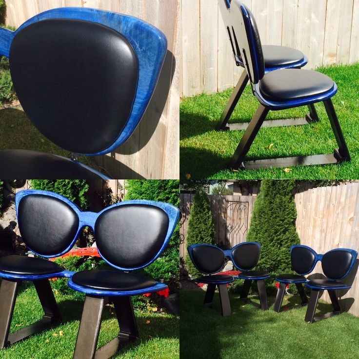 Cateye bench! Maple custom stained royal blue with custom cushions.
