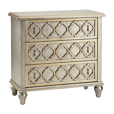 Silver Moroccan 3-Drawer Accent Chest | Kirklands