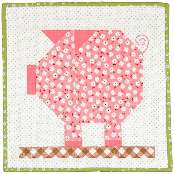 Say oink oink! #pennypigblock is here! You can get the PDF pattern at our shop today! @beelori1 #farmgirlvintage #farmgirlfridays #fqsfun