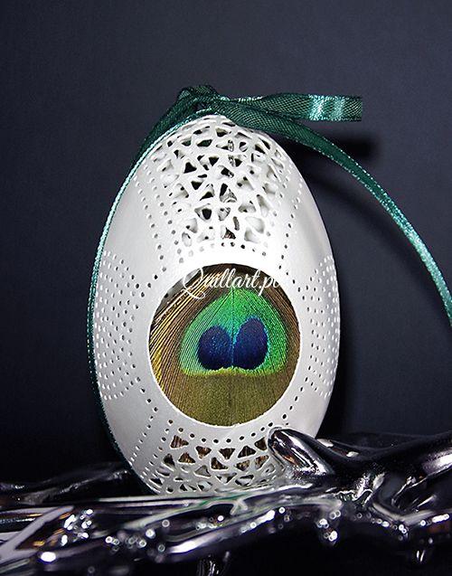 Ażurowa pisanka Openwork egg wykonanie Sylwia Krasoń-Nowińska, Quillart.pl, Lublin