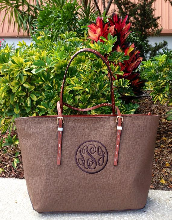 Monogram Purse in Taupe with Dark Cloister Brown by IFlewTheNest, $56.00 for my mom?
