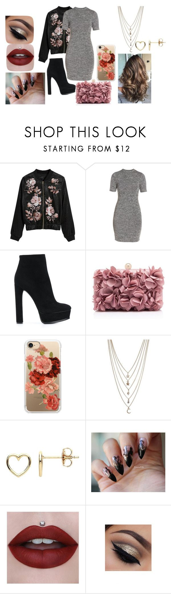 """""""Outfit#24"""" by harley-burns on Polyvore featuring French Connection, Casadei, Casetify, Ettika and Estella Bartlett"""