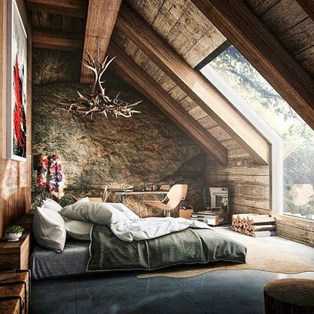 What an incredible place to wake up.  Thoughts? #bachelorpad #interiordesign #mancave