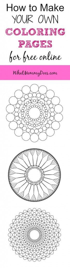 how to make your own mandala coloring pages for free online - Make Your Own Coloring Pages Online