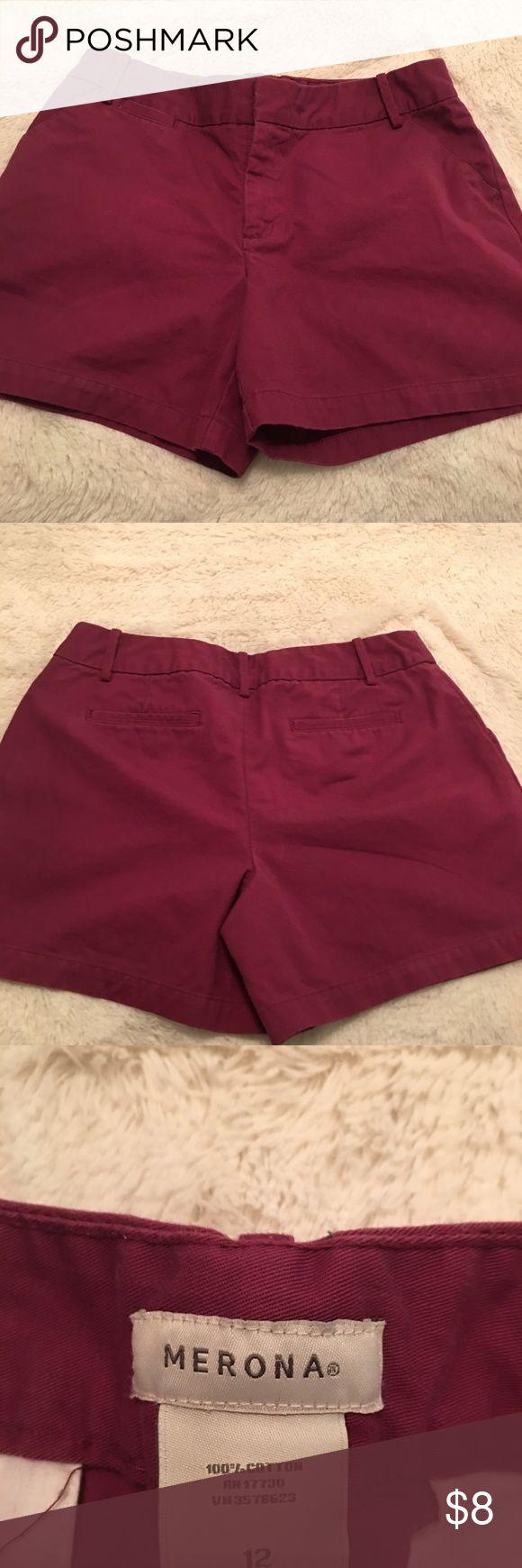 Maroon Shorts Maroon Shorts Merona Shorts Bermudas