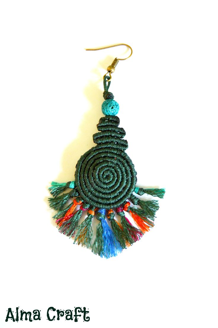 Colorful Macrame Boho Earring