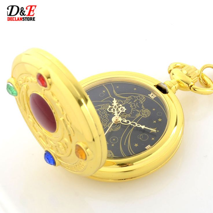 Rhinestone Anime Sailor Moon Golden Roman Quartz Pocket Watch -- I own this watch, I bought it from a website called smash or ssomething don't ever buy anything from there!! It took 2 months for me to actually receive it, and they don't come with iinstructions I don't know how to change the time or change the batteries.