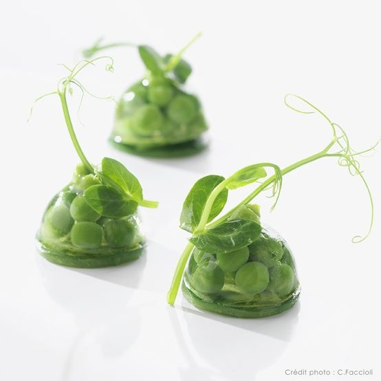 Lenôtre - Le petit pois et la menthe green food amazing idea for starters hors d'heuvres: