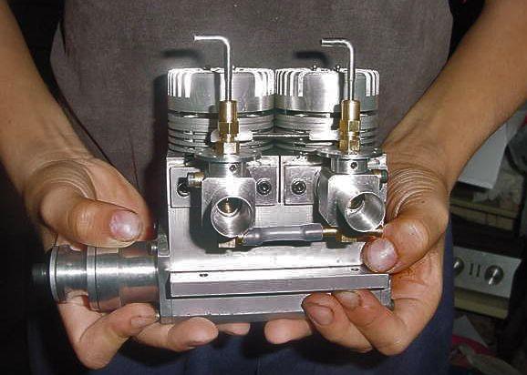 20cc Inline Munday twin dual plug