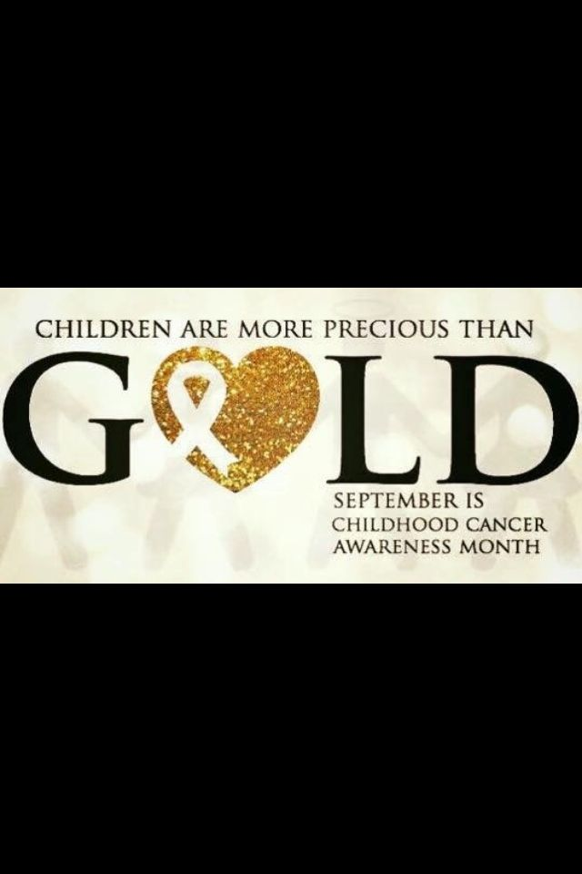 Go gold for childhood cancer awareness