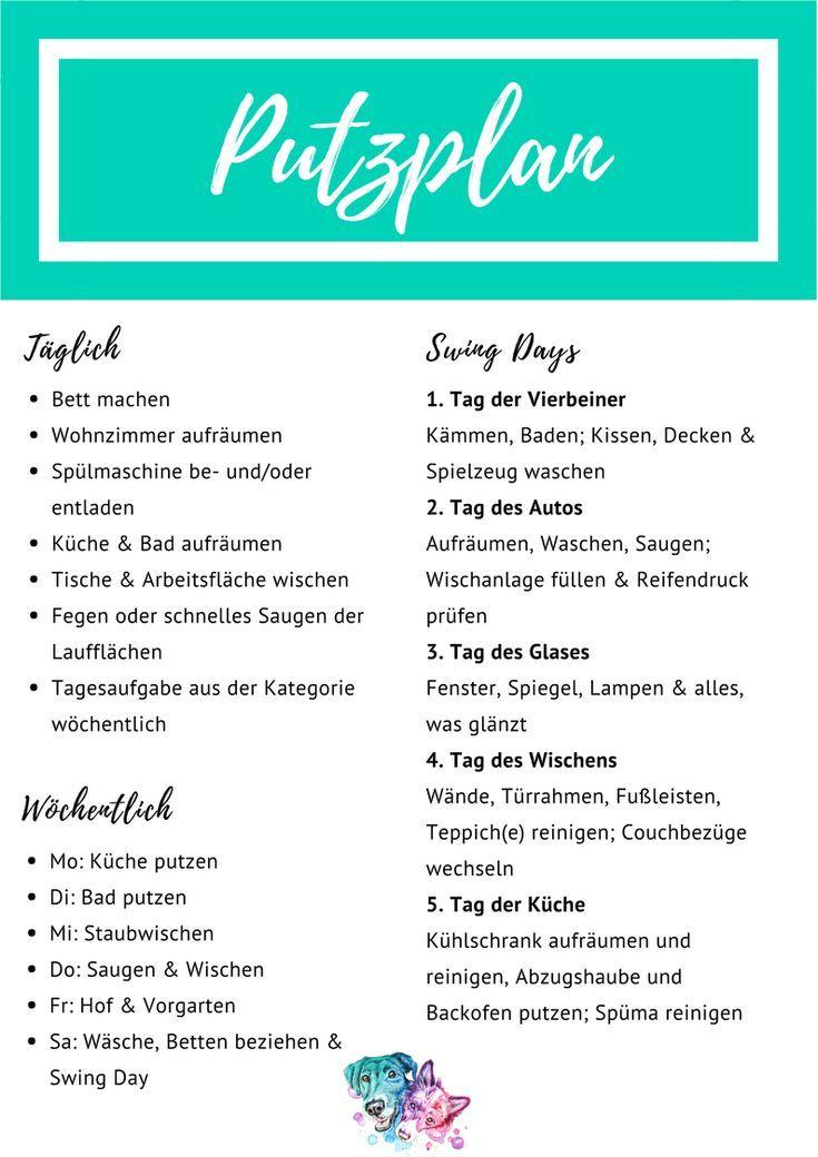 Putzplan Das Workbook The Pell Mell Pack Reinigungsplan Putzplan Putzhilfen