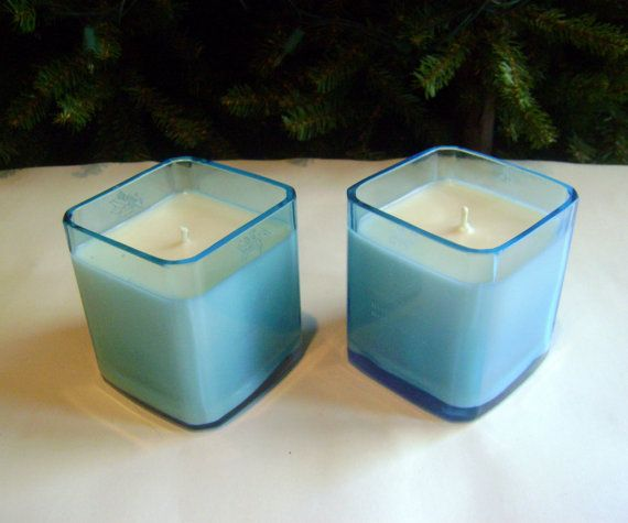 Fused Glass Gin Candle