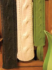 Big Bold Cable Scarf Knit Pattern