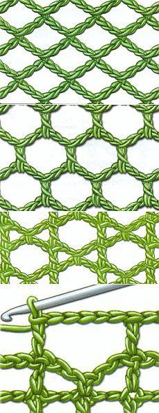 Филейное вязание урок 6 - сетка