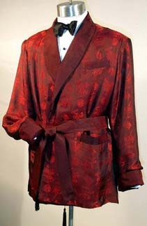 The smoking jacket  - Reminds me of one we had for years in the costume closet, I think it was my Grandfather's.