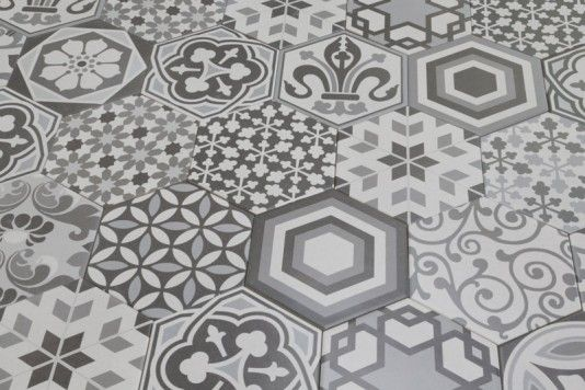 Hexagon Harmony 17.5x20cm - Hexagon - Feature Tiles - Tiles