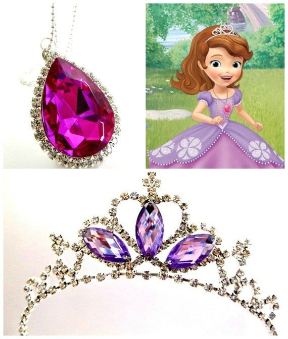 Sofia The First New Look Pink Amulet Princess Sofia Crown Etsy In 2020 Sofia The First Little Girl Makeup Kit Princess Sofia