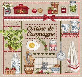 """Madame la fée - """"Cuisine de Campagne"""" 195 x 189 points"""