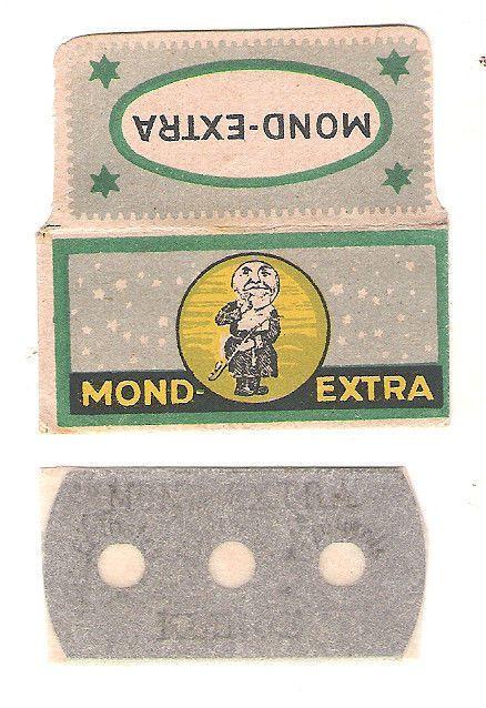 MOND vintage SAFETY RAZOR BLADE / MOON / lametta da barba / lame de rasoir  #1